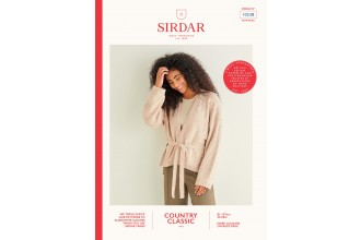 Sirdar 10238 Zebra Wrap Cardigan in Country Classic 4 Ply (leaflet)