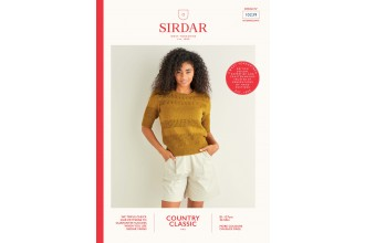Sirdar 10239 Lace Panelled Top in Country Classic 4 Ply (leaflet)