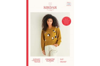 Sirdar 10240 Leopard Print V-Neck Sweater in Country Classic 4 Ply (downloadable PDF)