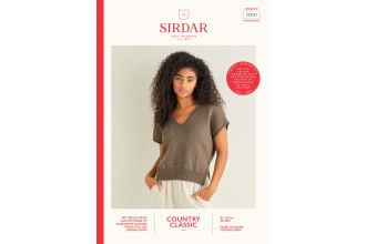 Sirdar 10241 V-Neck Stepped Hem Top in Country Classic 4 Ply (leaflet)