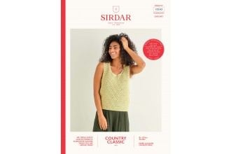 Sirdar 10243 Crochet Sultan Stitch Vest in Country Classic 4 Ply (leaflet)