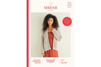 Sirdar 10245 Peacock Stitch Crochet Cardigan in Country Classic 4 Ply (leaflet)