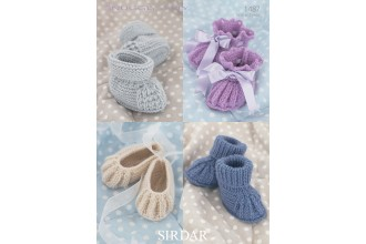 Sirdar 1487 Snuggly 4 Ply (leaflet) Babies Shoes and Bootees