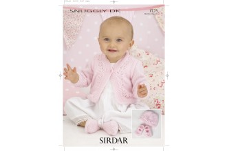 Sirdar 1723 Cardigan, Hat & Shoes in Snuggly DK (downloadable PDF)