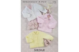 Sirdar 1750 Cardigans in Snuggly 4 Ply (leaflet)