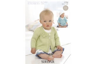 Sirdar 1752 Snuggly Baby Bamboo DK (leaflet)