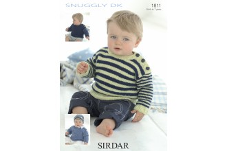 Sirdar 1811 Sweater in Snuggly DK (downloadable PDF)
