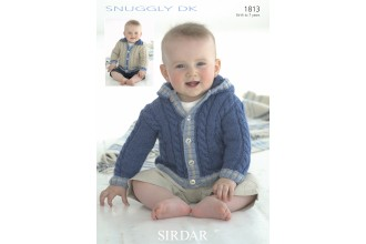 Sirdar 1813 Jackets in Snuggly DK (downloadable PDF)