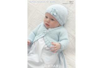 Sirdar 1817 Bolero Cardigan and Hat in Snuggly DK (downloadable PDF)