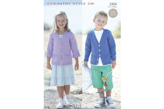 Sirdar 2404 Country Style DK Girls and Boys Cardigan (downloadable PDF)