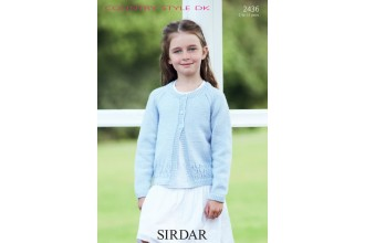 Sirdar 2436 Country Style DK Girls Cardigan (leaflet)