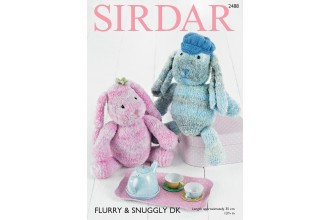 Sirdar 2488 Bunny in Flurry and Snuggly DK (downloadable PDF)