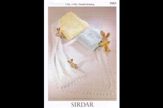 Sirdar 3983 Snuggly 3 Ply, 4 Ply & DK (leaflet)