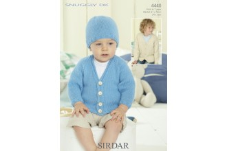 Sirdar 4440 Snuggly DK Boys Blanket, Hat and Cardigan (downloadable PDF)