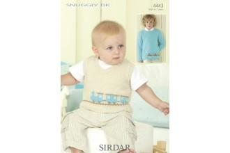 Sirdar 4443 Snuggly DK Boys Sweater and Tanktop (leaflet)