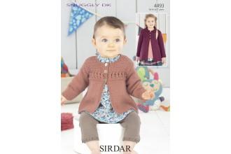 Sirdar 4493 Snuggly DK Girls Cardigan (leaflet)