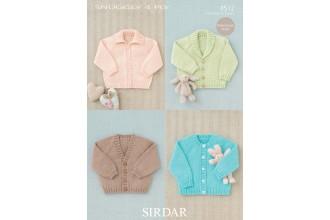 Sirdar 4512 Snuggly 4 Ply Baby's Raglan Cardigans (leaflet)