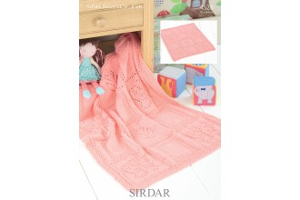Sirdar 4528 Snuggly DK Butterfly and Flower Blanket (leaflet)