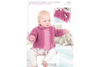 Sirdar 4560 Snowflake Chunky & Snuggly DK Jacket and Blanket (leaflet)