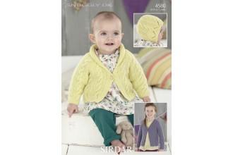 Sirdar 4580 Cardigans and Bonnet in Snuggly DK (leaflet)