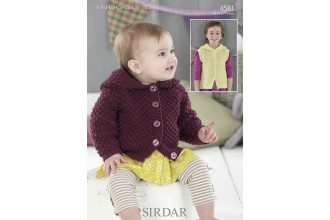 Sirdar 4581 Jacket and Waistcoat in Snuggly DK (leaflet)