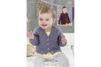 Sirdar 4582 Cardigans in Snuggly DK (leaflet)
