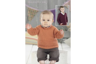 Sirdar 4583 Round Neck and V Neck Sweaters in Snuggly DK (leaflet)