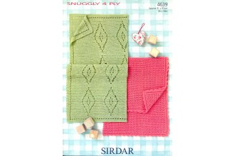 Sirdar 4639 Blankets in Snuggly 4 Ply (leaflet)