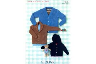 Sirdar 4640 Cardigans in Snuggly 4 Ply (leaflet)
