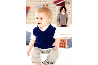 Sirdar 4655 Tank and Sweater in Snuggly DK (leaflet)