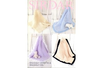 Sirdar 4700 Blankets in Snuggly Sweetie and Snuggly DK (leaflet)