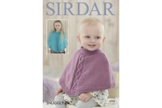 Sirdar 4702 Girls Ponchos in Snuggly DK (downloadable PDF)