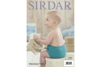 Sirdar 4704 Nappy Cover in Snuggly DK (leaflet)