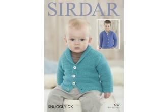 Sirdar 4707 Boys Cardigan in Snuggly DK (leaflet)