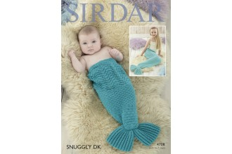 Sirdar 4708 Mermaid Tail Snugglers in Snuggly DK (leaflet)