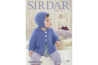 Sirdar 4709 Girls Cardigan, Bonnet and Hat in Snuggly DK (leaflet)