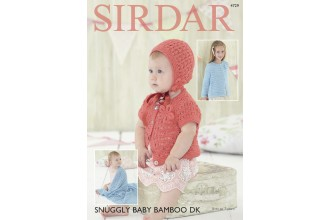 Sirdar 4729 Cardigans, Bonnet and Blanket in Snuggly Baby Bamboo DK (leaflet)