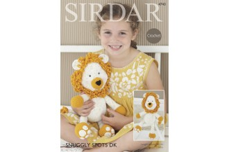 Sirdar 4743 Logan the Lion Toy in Snuggly Spots and Snuggly DK (downloadable PDF)