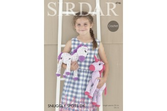 Sirdar 4746 Horse and Unicorn Toys in Snuggly DK and Snuggly Spots DK (downloadable PDF)