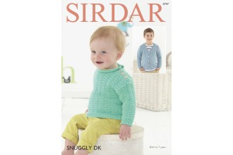 Sirdar 4747 Sweater and Cardigan in Snuggly DK (downloadable PDF)
