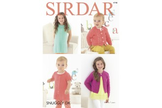 Sirdar 4748 Dress and Cardigans in Snuggly DK (downloadable PDF)
