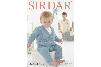Sirdar 4750 Baby Boy's Onesie and  Boy's V Neck Sweater in Snuggly DK  (leaflet)