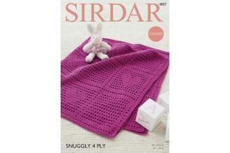 Sirdar 4807 Blanket in Snuggly 4 Ply (leaflet)