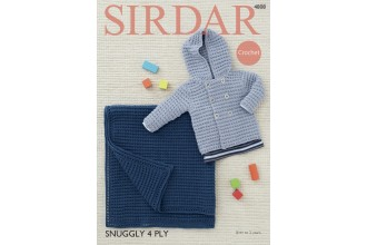 Sirdar 4808 Boys Jacket and Blanket in Snuggly 4 Ply (leaflet)