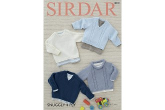 Sirdar 4810 Sweaters in Snuggly 4 Ply (leaflet)