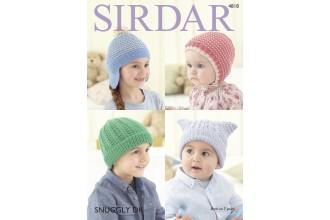 Sirdar 4818 Hats in Snuggly DK (leaflet)