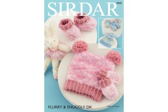 Sirdar 4858 Accessories in Flurry and Snuggly DK (downloadable PDF)