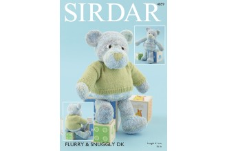 Sirdar 4859 Bear with Sweater in Flurry and Snuggly DK (downloadable PDF)