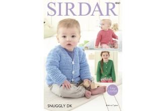 Sirdar 4860 Cardigans in Snuggly DK (leaflet)