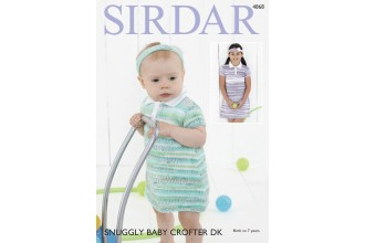 Sirdar 4868 Dresses and Headbands in Snuggly Baby Crofter DK and Snuggly DK (downloadable PDF)